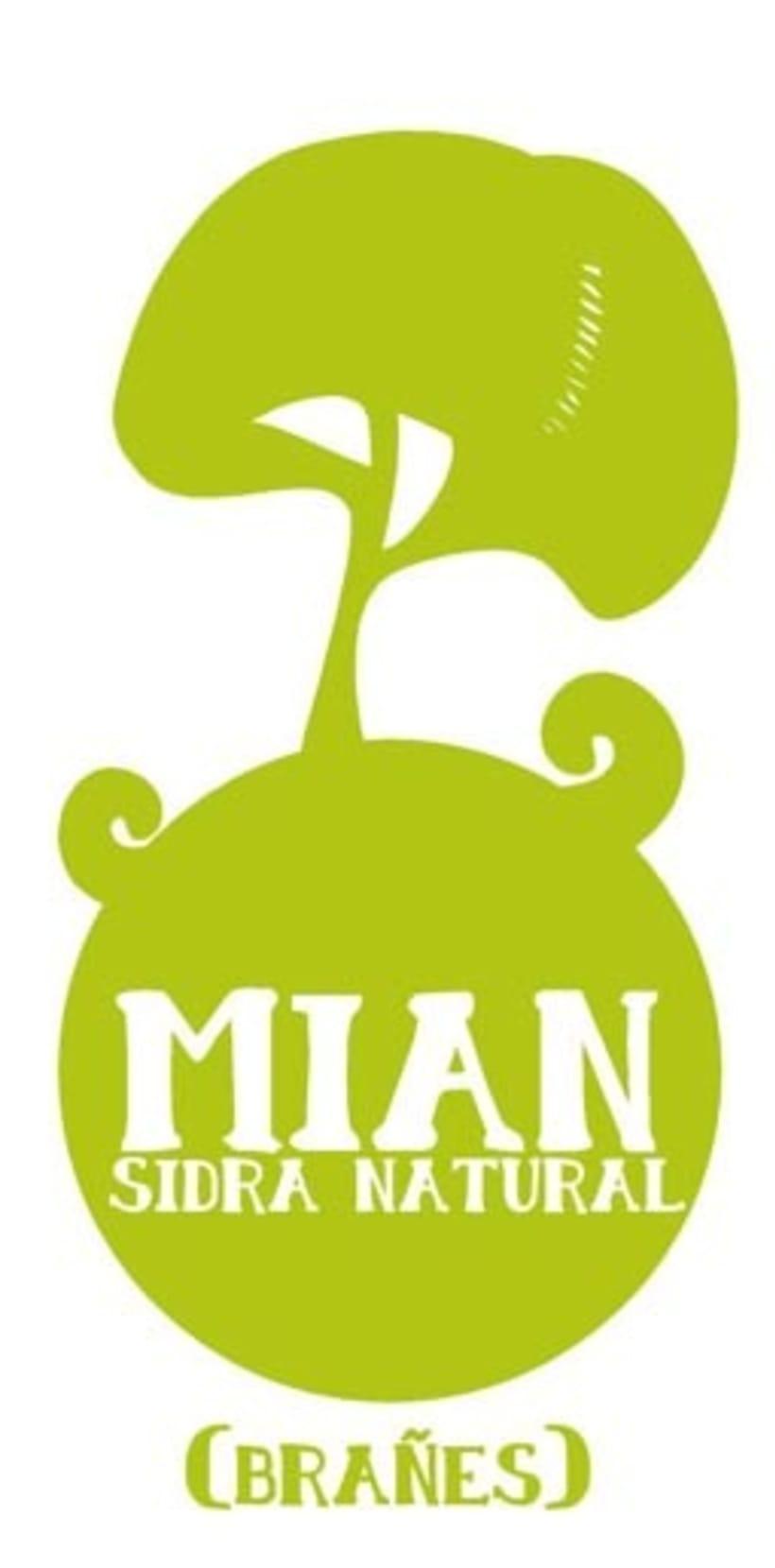 Etiqueta para sidra MiaN 1