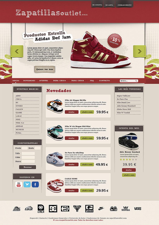 Propuesta tieda de zapatillas online 1