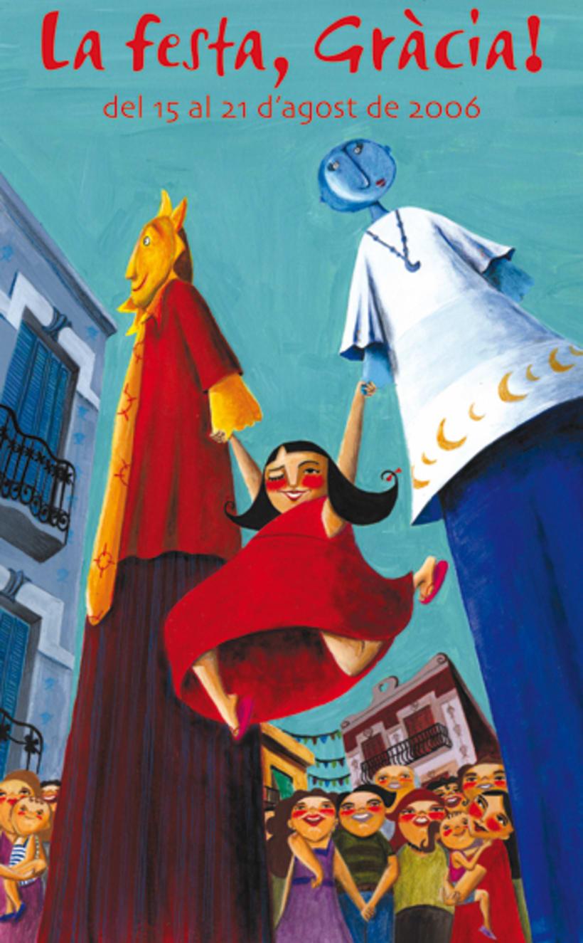 Primer premio de carteles Festes de Gràcia 2006 1
