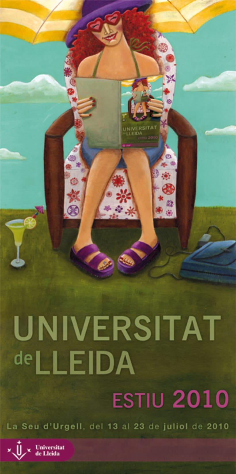 Obra seleccionada cartel Universitat de Lleida cursos verano 2010 1
