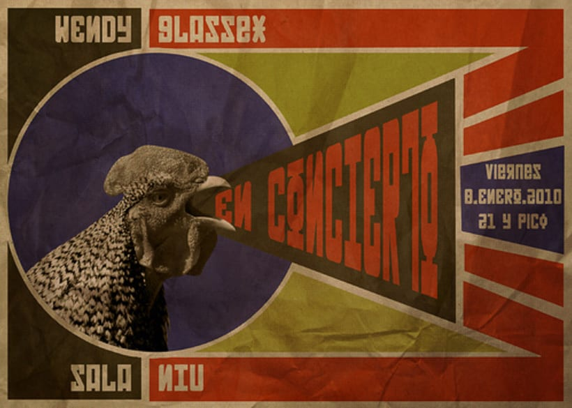 Poster at Rodchenko style for a Wendy GlasSex Concert. 1