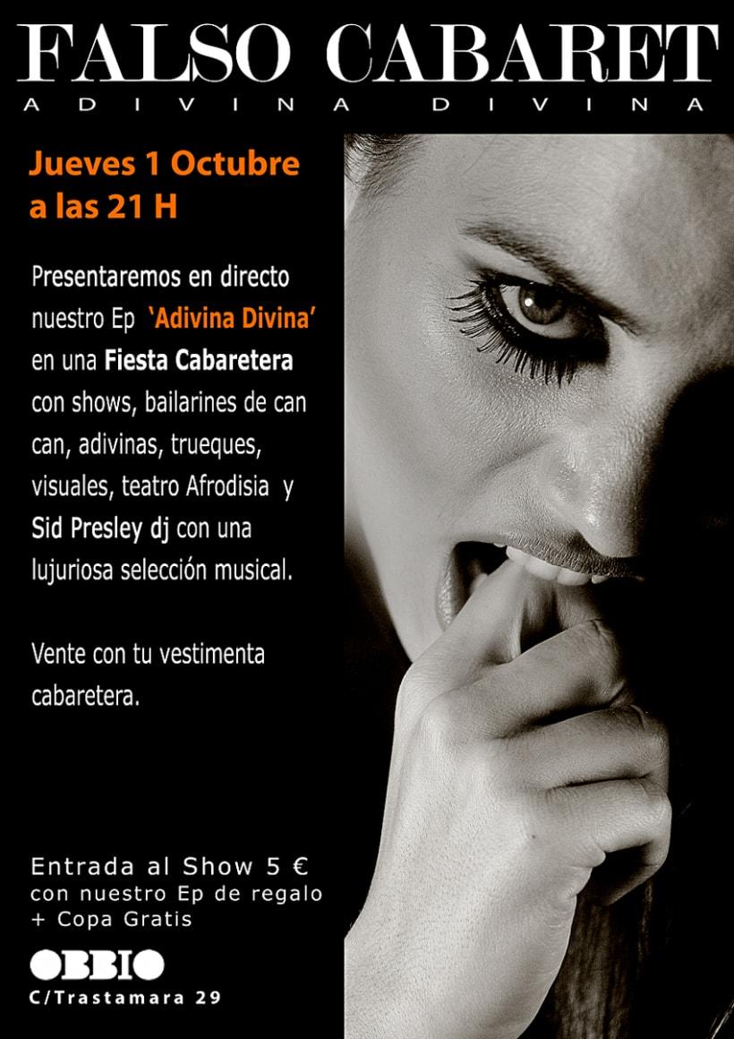 """Portada """"Falso Cabaret""""( disco ep de 5 canciones) 6"""