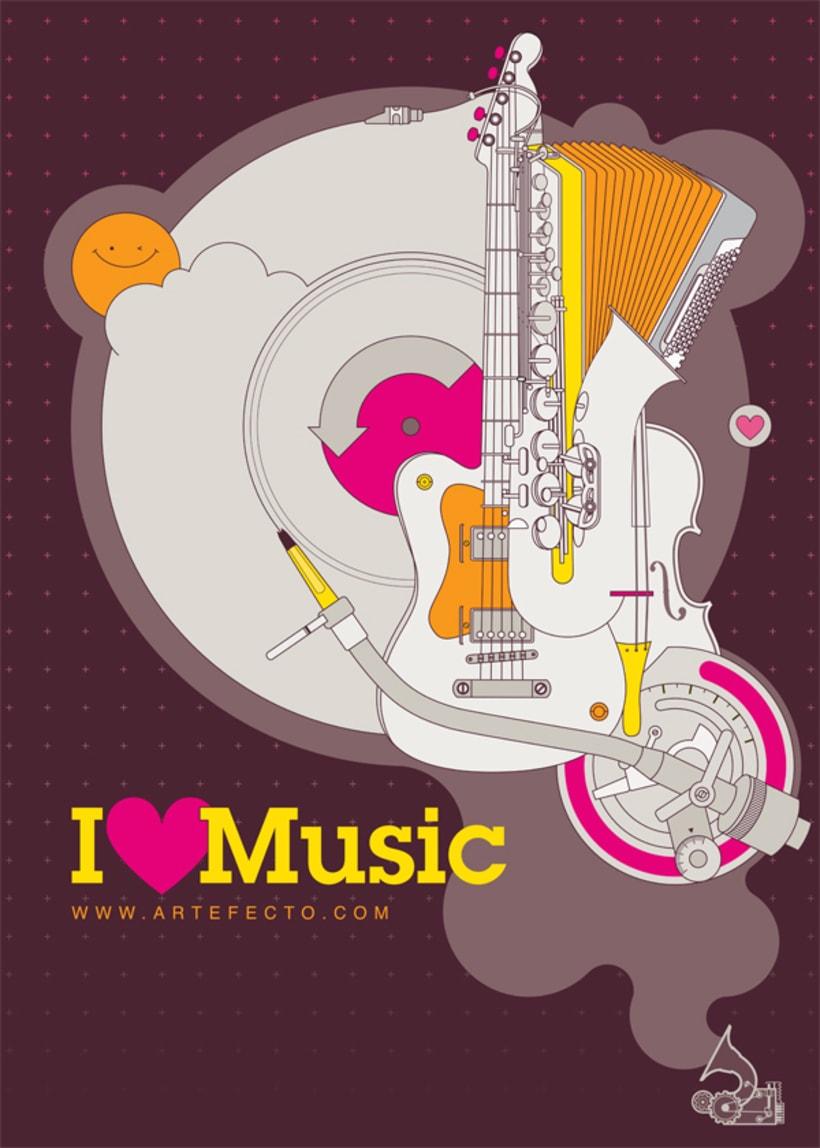 Poster I LOVE MUSIC 1