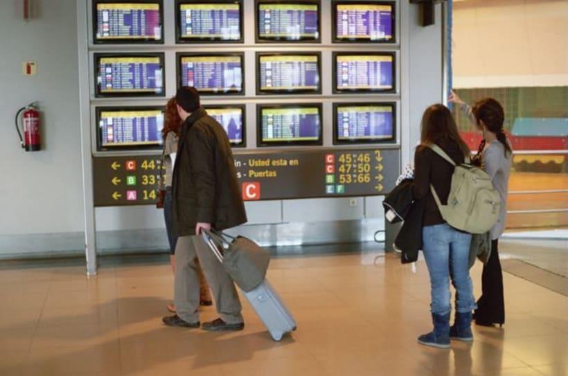 Aeropuerto, la espera. Time measures at the airport. 12