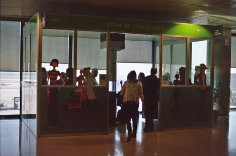 Aeropuerto, la espera. Time measures at the airport. 6