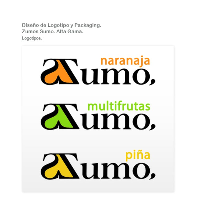 Packaging Zumo Sumo. Alta Gama. 1