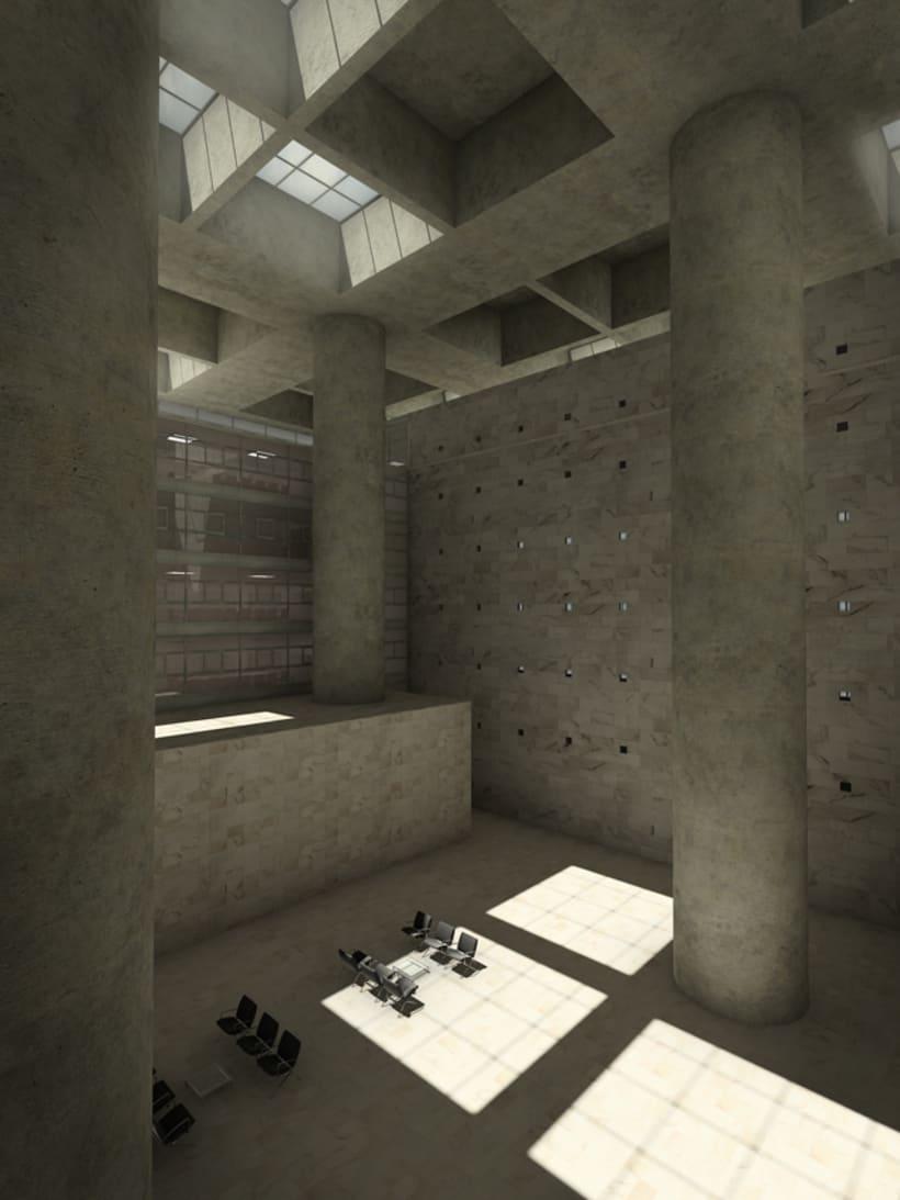 Sede central de caja granada domestika - Caja de arquitectos granada ...