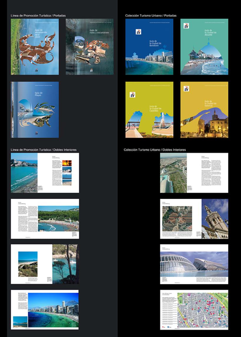 Colección catálogos para Turismo de la Generalitat Talenciana 2