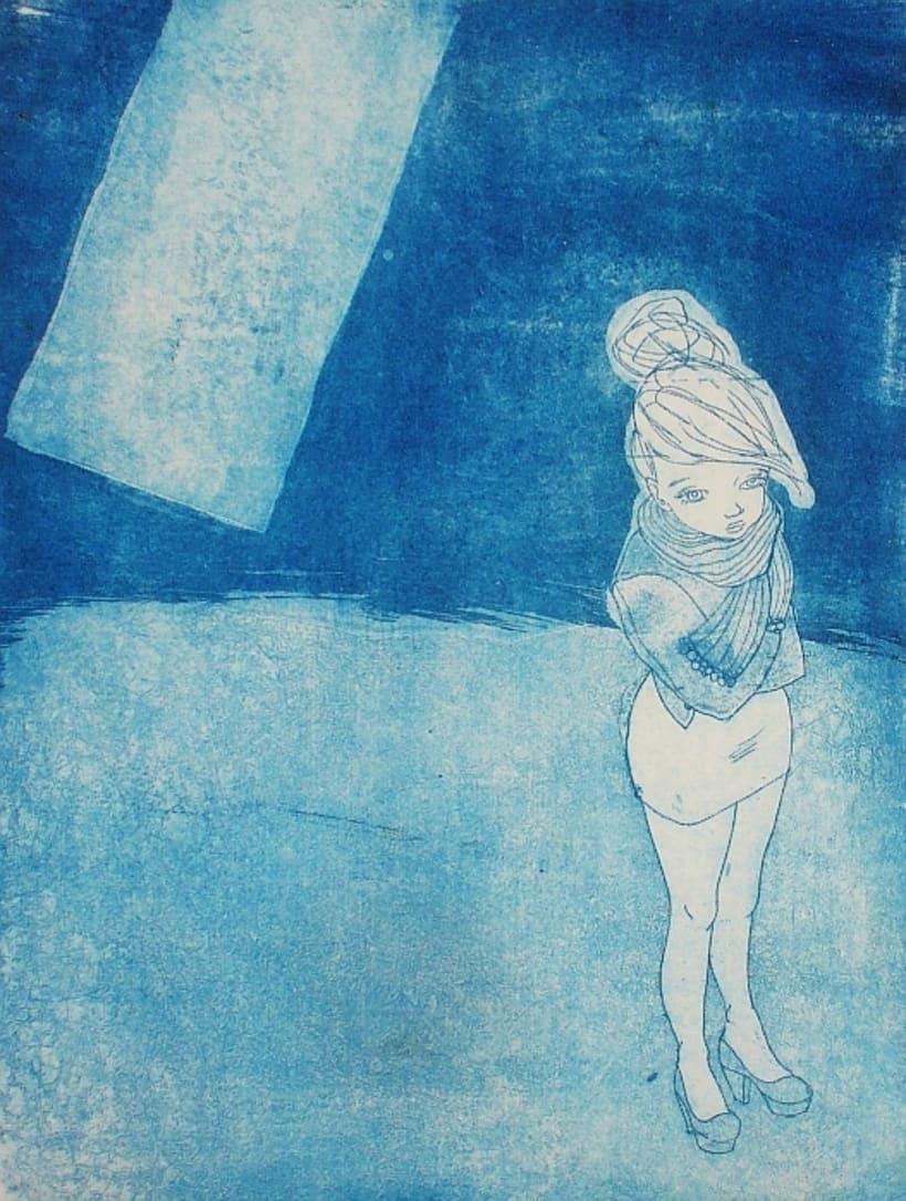 Triste y caliente: grabados para poemas de Berta García Faet 1