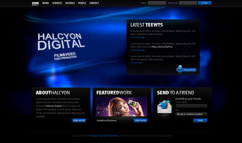 Halcyon Digital website design 1