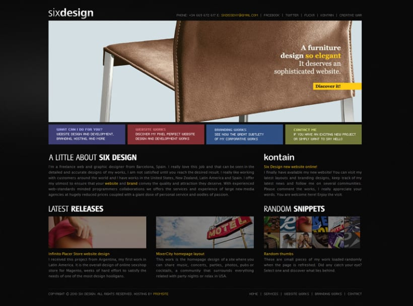 Six Design website 1