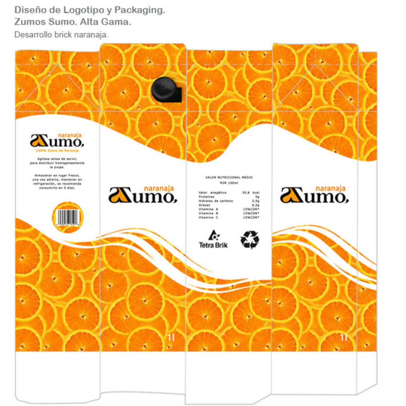 Packaging Zumo Sumo. Alta Gama. 2