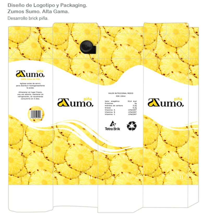 Packaging Zumo Sumo. Alta Gama. 4