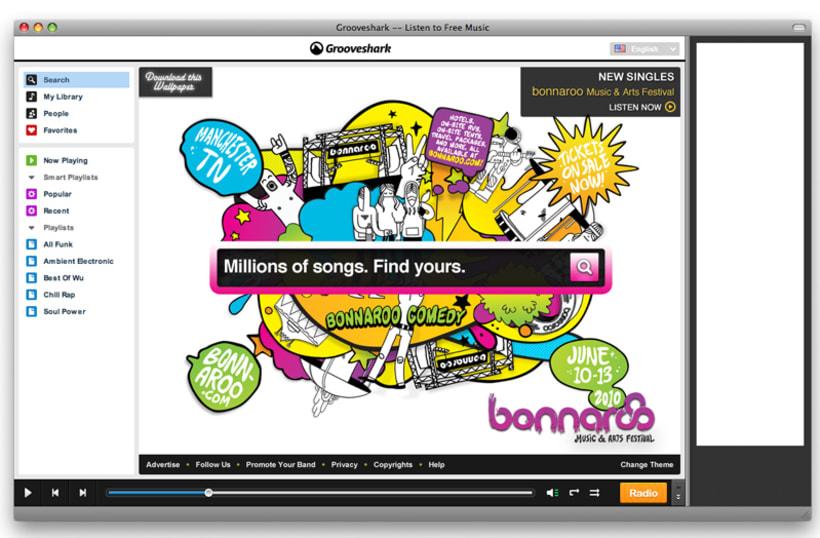 Grooveshark / Bonnaroo 2
