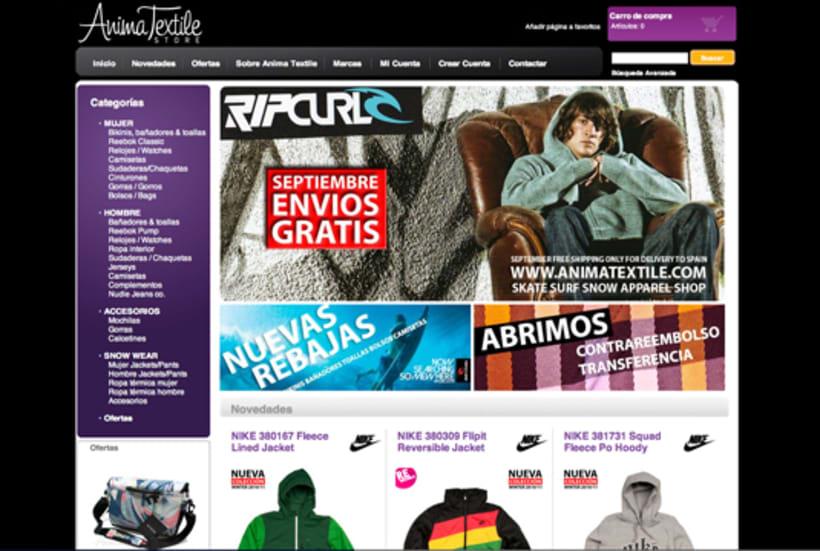 Diseño logotipo y web Anima Textile Store 2