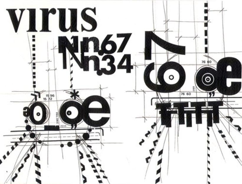 virus letter press 3