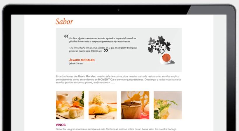 Branding para el restaurante Moment 15