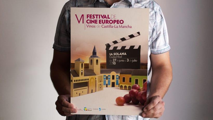 Propuesta Cartel Festival de Cine La Solana                             (Colaboración con Ángel Moreno) 1