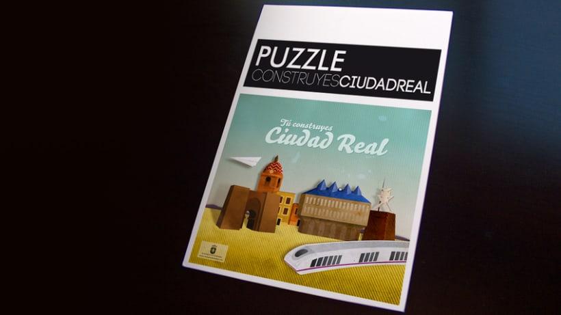 """Puzzle """"Tú construyes Ciudad Real"""" 1"""