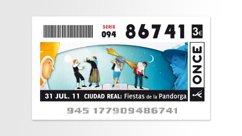 """Cupón ONCE """"Pandorga 2011"""" 2"""