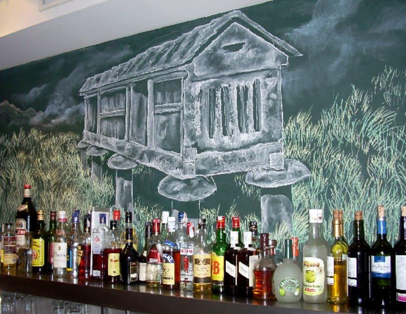 Dibujos a tiza en el Bar Docamar 7