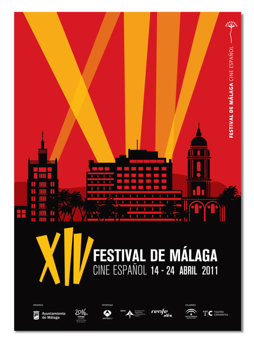 Cartel 14 Festival Cine Málaga - Propuesta 2