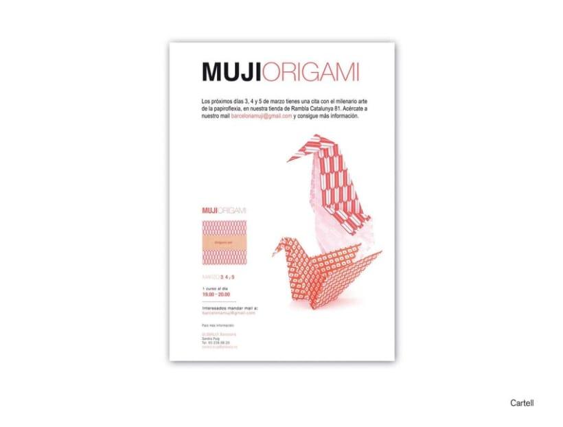 Cartel Muji Origami 1