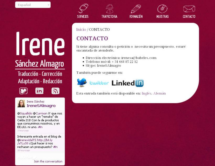 Web personal - Irene Sánchez Almagro - Traductora 2