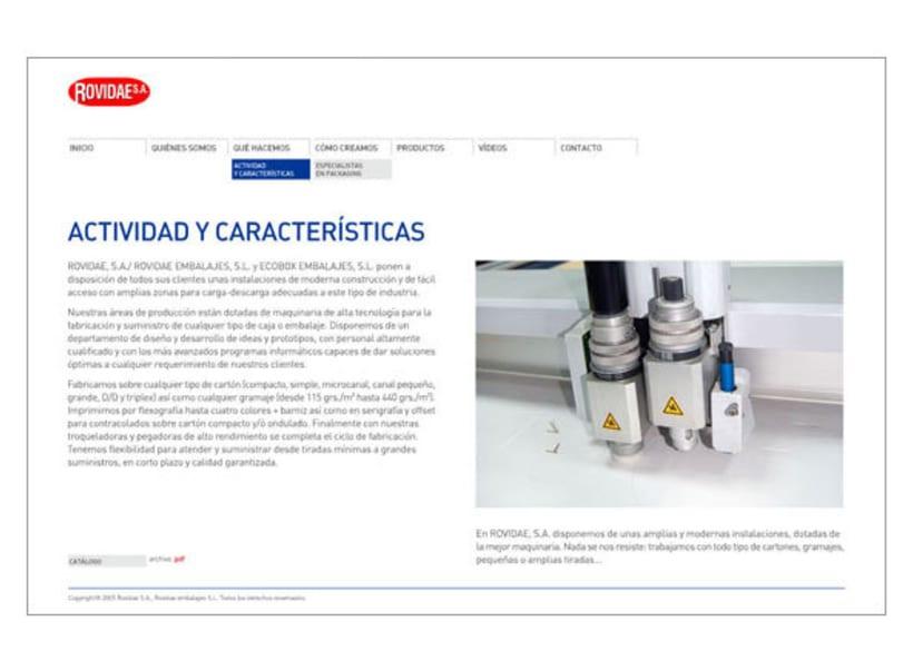 Web corporativa Rovidae S.A. 5