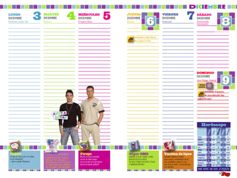 Diseño AGENDAS - Revista SúperPop 6