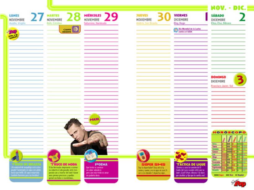 Diseño AGENDAS - Revista SúperPop 8