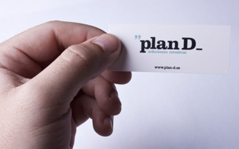 Tarjetas visita Plan D 2