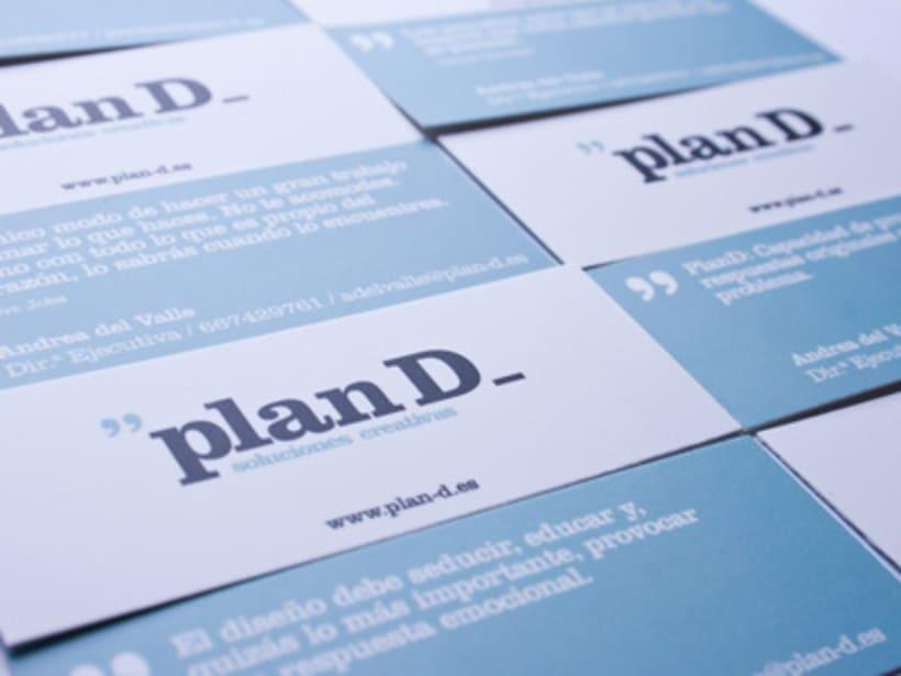 Tarjetas visita Plan D 4