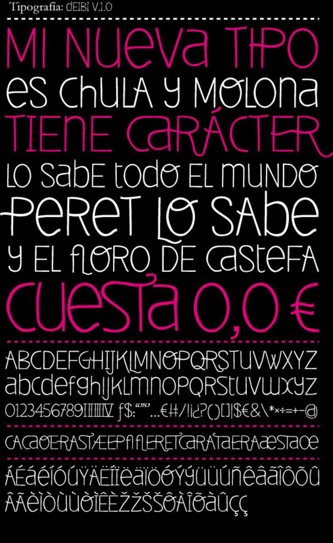 Deibi Free font 1