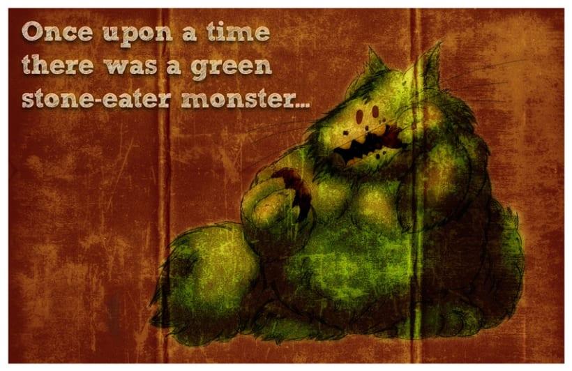 monstruo verde comepiedras 1
