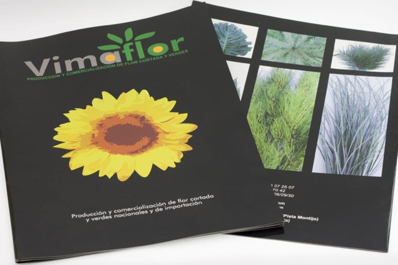 Triptico y fotografías empresa exportadora de flores 2