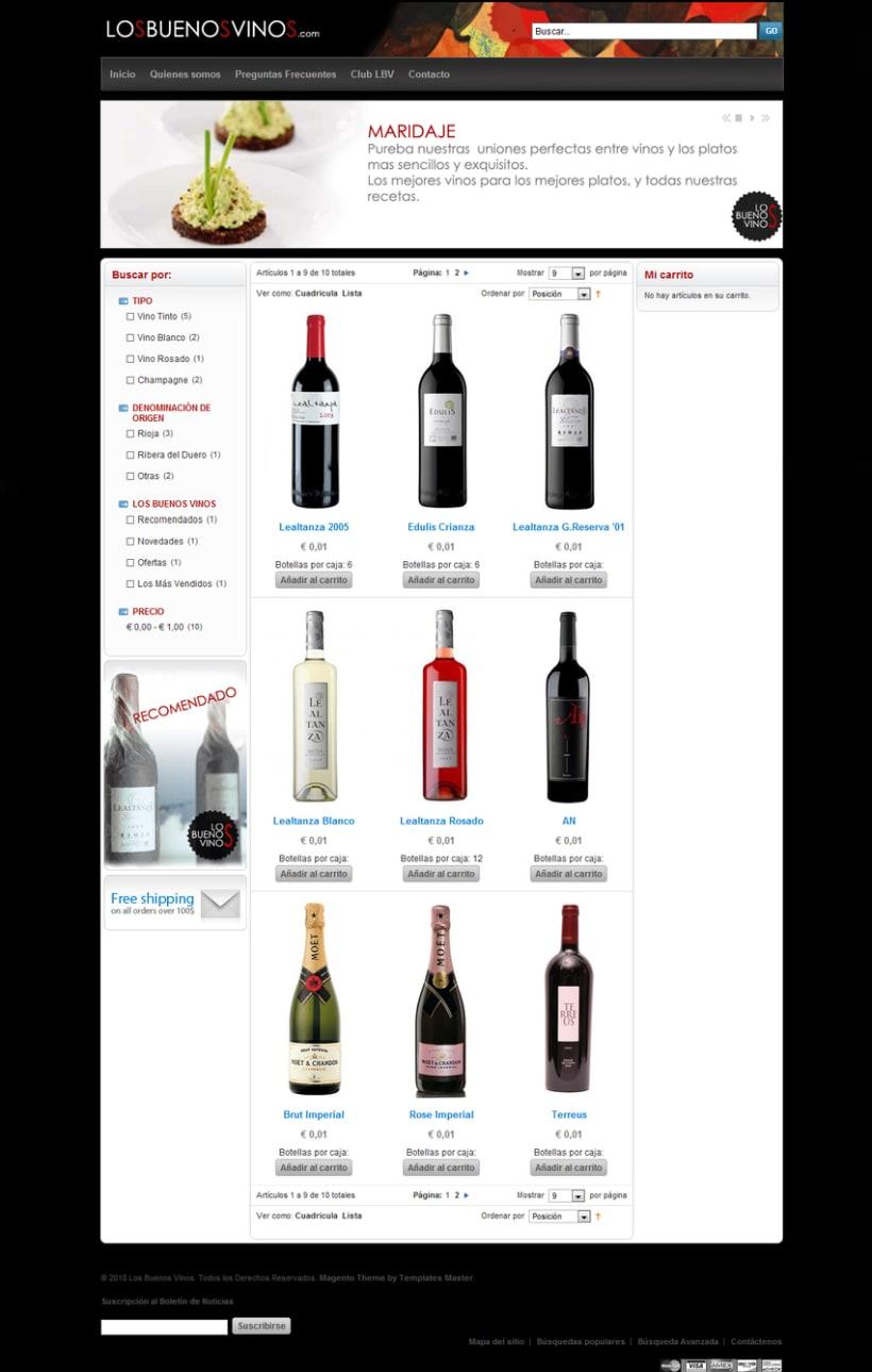 Diseño pagina web tienda online 2