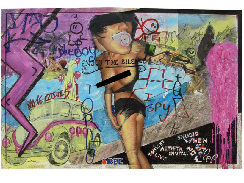 Acrilicos - collage 2