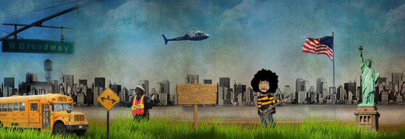 New York -Diseño e ilustracion de pantalla para web- 1