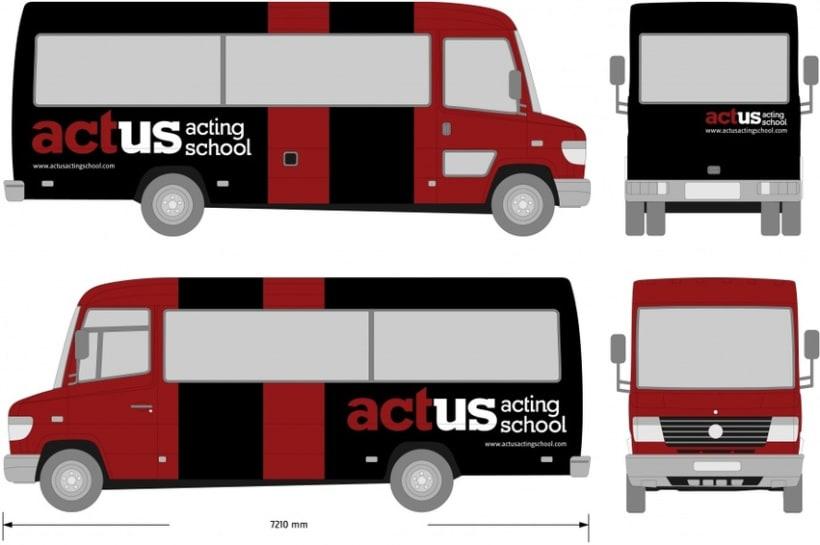 Imagen Gráfica Identificativa de la Escuela Actus  4