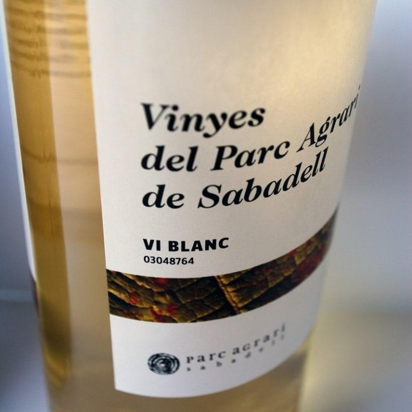 """Etiquetas de vino de las """"Vinyes del Parc Agrari de Sabadell"""" 4"""