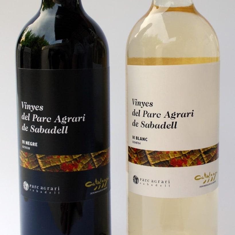 """Etiquetas de vino de las """"Vinyes del Parc Agrari de Sabadell"""" 3"""