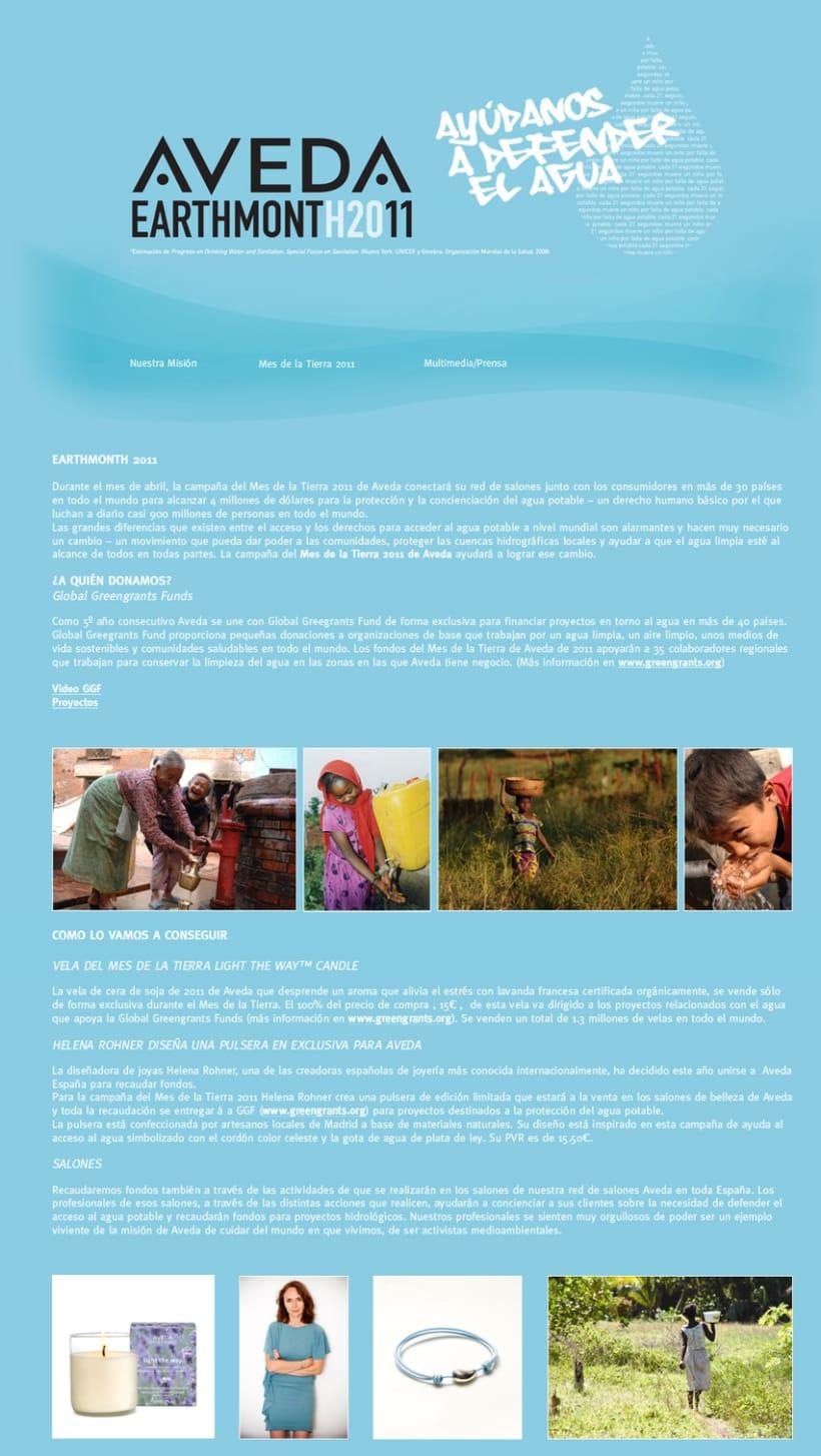 Mes de la Tierra con Aveda Minisite Creatividad y desarrollo) 2
