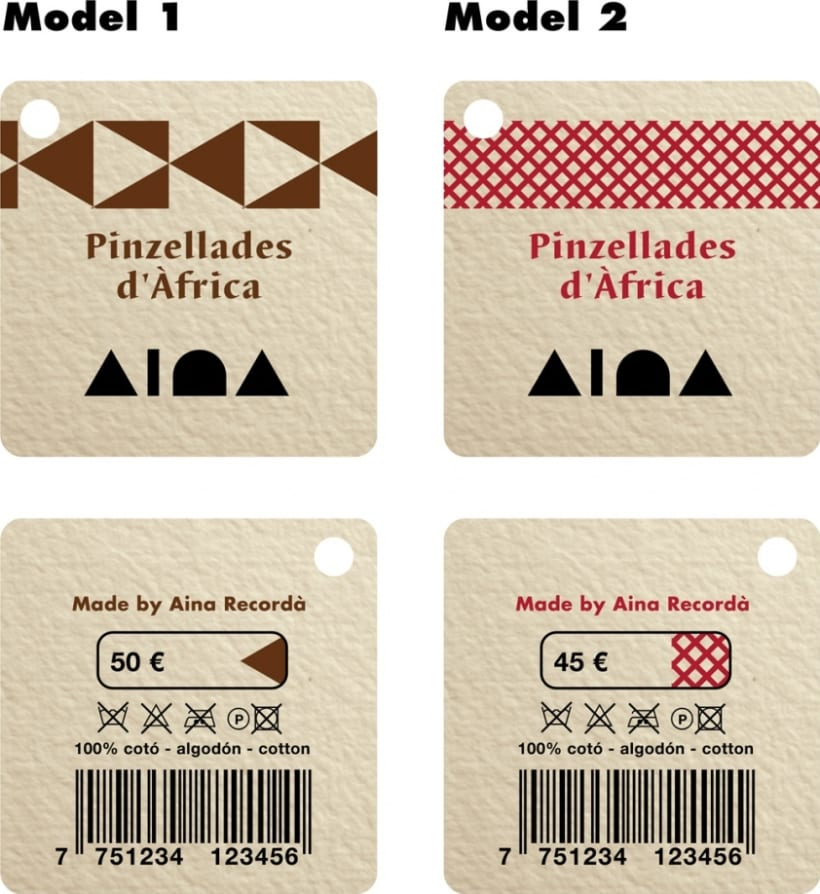 Logotipo y etiquetas de la diseñadora Aina Recordà 5