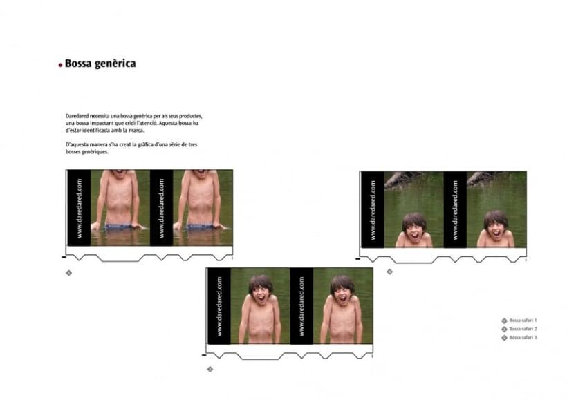 Manual de Identidad Visual y aplicaciones de la empresa Daredared 10