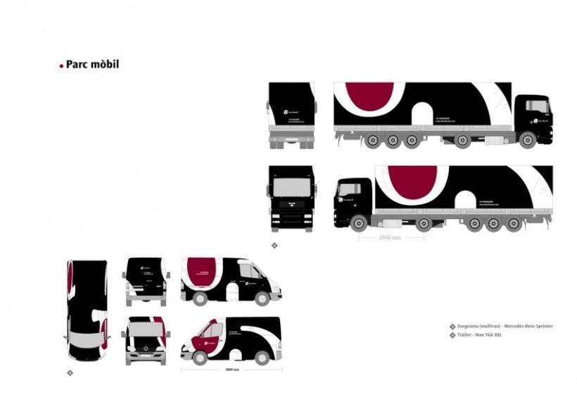 Manual de Identidad Visual y aplicaciones de la empresa Daredared 7
