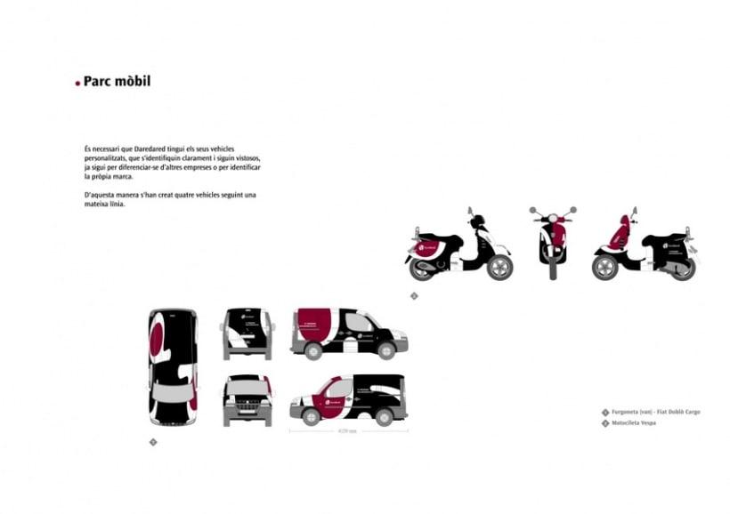 Manual de Identidad Visual y aplicaciones de la empresa Daredared 6