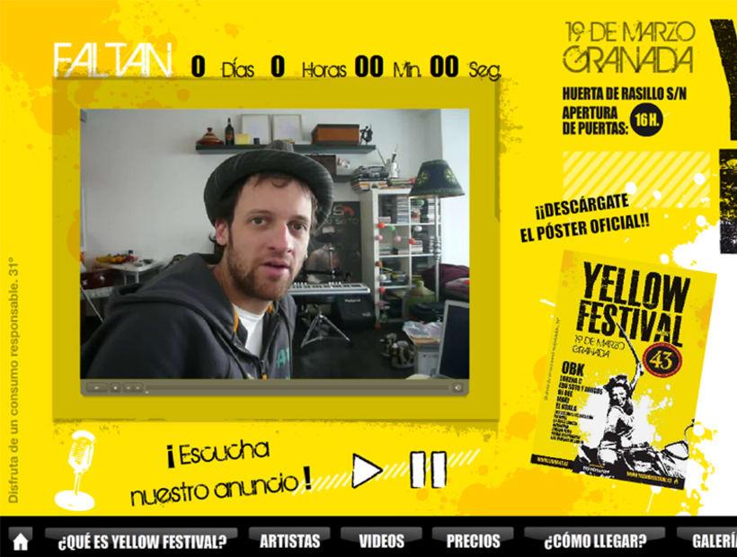 Web - Maquetación y modelo portada Yellow Festival 3