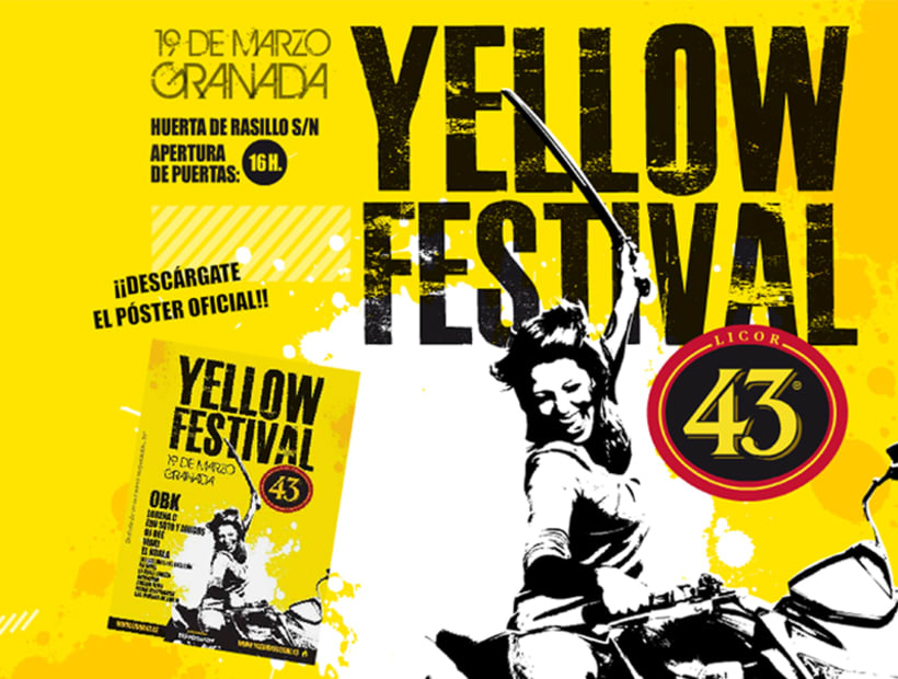 Web - Maquetación y modelo portada Yellow Festival 1