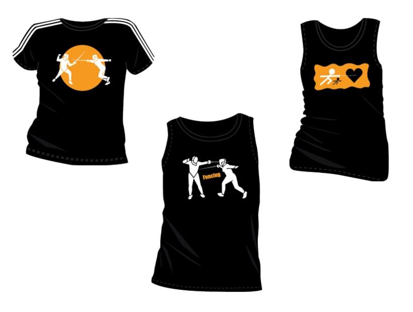 Estampacion Camisetas - Esgrima 1